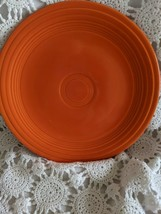 Genuine Fiesta Dinner Plate 9.5 Orange Vintage Made USA - $14.54