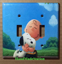 Peanuts Snoopy Charlie Brown Hug Light Switch Power wall Cover Plate Home decor image 6
