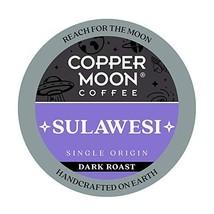 Copper Moon Sulawesi Origin, Dark Roast Coffee Pods Compatible with Keur... - $12.69