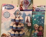Disney FROZEN Birthday Party Lot - CUPCAKE STAND, CANDLE, 16 TREAT BAGS! NEW