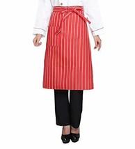 Nanxson Unisex Kitchen Hotel Food Service Bistro Chef Apron CF3008 redstrip - $11.15