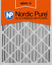 Nordic Pure 20x25x4 (3 5/8) Pleated MERV 15 Air Filters 2 Pack - $81.80