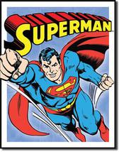 Superman Retro Panels DC Universe Villains and Super Hero Metal Sign - $20.95