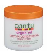 Cantu Argan Oil Leave In Conditioning deep moisturizing Repair Cream 16oz - $13.81