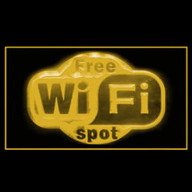 130045B Free Wi-Fi Spot Complimentary Library Hotel Initiative LED Light Sign - $18.00