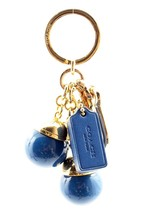 NWT Popular Trend Coach Resin Orb Denim Blue Balls Mix Bag Charm Key Rin... - $56.93