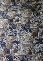4+ yd Vtg 80s 1987 Bloom LA Fabrics Silky Black Brown Patterned 44x149 H... - $25.65
