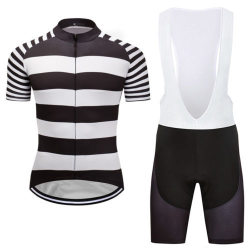 12. 12. Previous. New Mens Cycling Jersey Bib Shorts Outfits Outdoor Sports  Road Bike Wear Striped 4af42ff55