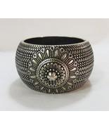 Metal bracelet bangle floral hinged jewelry  - $11.99
