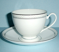 Waterford China Padova Teacup & Saucer New - $38.90