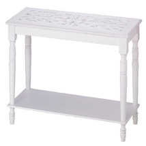 Long Thin Table, White Long End Table Tall And Skinny White - $101.41