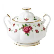 Royal Albert NEW COUNTRY ROSES WHITE Vintage Formal Sugar Bowl # 8702025865 - $73.26