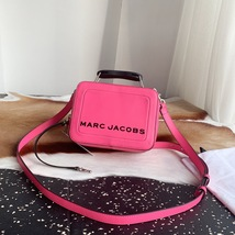 MARC JACOBS THE TEXTURED MINI BOX BAG DIVA PINK - $289.00