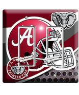ALABAMA CRIMSON TIDE FOOTBALL TEAM 2 GFI LIGHT SWITCH WALL PLATE ROOM HO... - $12.99