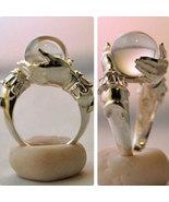 Vintage crystal ball ring - $15.00