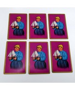 Set of 6 Dutch Boy Holding Sailboat Playing Cards for crafting collage r... - $2.25