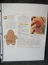 Gingerbread Tree Trim Wood Pattern - $2.24