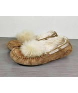 UGG Dakota Water Resistant Shearling Pom Pom Slipper Chestnut Womens Siz... - $58.79