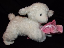 Baby Gund Lena Lamb Plush Stuffed Animal Girl Pink Blanket Blankie Sheep... - $23.00