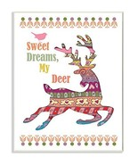 The Kids Room by Stupell Sweet Dreams My Deer Boho Graphic Art Wall Plaq... - $28.41