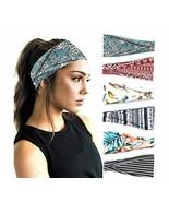 PLOVZ 6 Pack Women's Yoga Running Headbands Sports Workout Hair Bands (S... - $26.65
