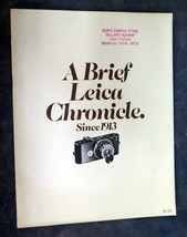 A Brief Leica Chronicle since 1913 pamplet / brochure  - $1.75