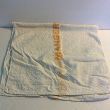 Manger Hotels Bath Towel White Orange 100% Cotton HW Baker Linen Co Cannon Mills image 2
