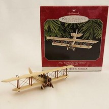 Vintage 1998 Hallmark Keepsake Ornament 1917 Curtiss JN-4D Jenny Skys the Limit image 1