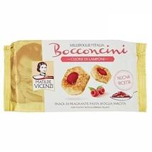 Matilde Vicenzi Bocconcini CUORE DI LAMPONI Raspberry 90g biscuits filled Snacks - $3.42
