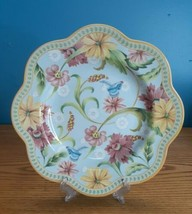 """Spode Exotic Garden floral pastel scalloped  luncheon plate 9½"""" England ... - $19.75"""