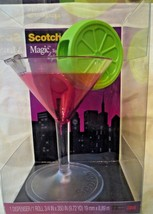 Scotch 3M magic tape dispenser cocktail glass - $8.00