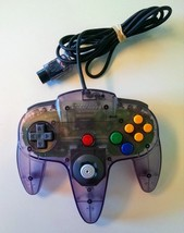 OFFICIAL Nintendo 64 Atomic Purple Controller N64 TIGHT STICK WORKS! - $24.08