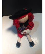 Madelines Christmas Doll Eden 1990 With Storybook Plush - $21.78