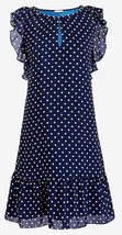 J.Crew Womens Dress Blue White Polka Dot Flutter Sleeve Size XL NWT - $44.72