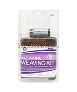 All In One Weaving Kit Mesh Net Thread Needles Wigs Clips Supply Brown #... - $5.93