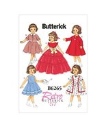 """Butterick Patterns B6265OSZ 18"""" Doll Clothes, One Size Only - $14.70"""
