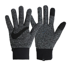 Nike Men's Dri-FIT Knit Running Gloves Touch Screen Glove Dark Gray DA70... - $44.99