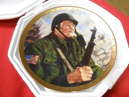 "Great Collectible FRANKLIN MINT Plate JOHN WAYNE ""Salute to the Soldier""... - $24.75"