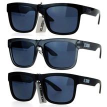 Kush Dark Black Mens Oversize Sport Horn Rim Sunglasses - $9.95