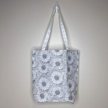 """Sunflower Tote Bag DIY Fabric To Color White Straps 14""""x13""""x4"""" - $11.88"""