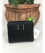 New Coach Wallet F52224 Darcy Bow Black Leather Small Bifold W32 - $89.09