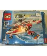 LEGO Set #7903 City Rescue Helicopter w/DAMAGED box, instructions & 3 se... - $49.99