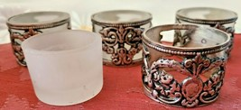 Vintage Silver Plate Tealight Votive Candle Holders - Set of 4 image 2