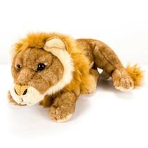 "E&J Classic Lion Plush 11"" VTG Brown Orange Seated Mane Safari Stuffed A... - $21.64"
