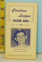 1951 Carolina League Record Book Coca-Cola Sponsor - $14.85