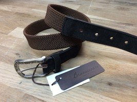 Bloomingdale's  Italy Bruno Cenere Elastic Suede Leather Belt  $130.00 size 32 - $42.56
