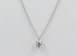 Tiffany & Co. 0.26 Carat Diamond Solitaire Necklace Pendant in Platinum - $1,955.10