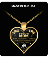 Wrestling Mom Pendant Necklace - Mother's Day Gift Ideas - $19.95