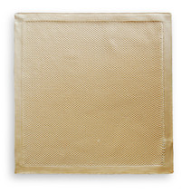 Frederick Thomas caramel beige knitted pocket square FT3173 - $14.13