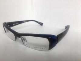 New ALAIN MIKLI A 0636 A0636 25 52mm Black Blue Semi-Rimless Eyeglasses Frame - $218.49